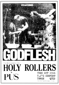 Holy Rollers Didjits at TJs in Newport, Wales, UK, early 1990s, from Cheapo Sweaty Fun 200